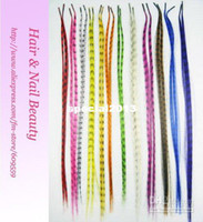 Wholesale quot long I tip Straight Grizzly Stick tipped Feather Hair extensions kit m