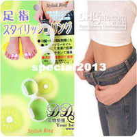 Wholesale Guaranteed New Original Magnetic Silicon Foot Massage Toe Rings Weight Loss Slimming Easy Healt