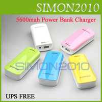 Wholesale 5000mah Colorful Emergency USB Power Bank Portable External Battery journey Travel Charger Charging Universal with LED Light Color For Apple