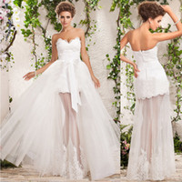 Free Shipping Hot Sale Glamorous Sweetheart White Tulle Fron...