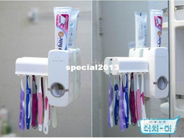 Wholesale New Automatic Toothpaste Dispenser Toothbrush Holder sets toothbrush Family sets