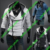 Compra Capas superiores del traje-Creed 3 de Desmond de los asesinos calientes nuevo Hoodie de la chaqueta de la chaqueta de Cosplay de la chaqueta, estilo del credo de los asesinos Chaqueta con capucha del paño grueso y suave, WEIYI001