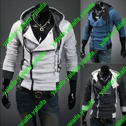Capas superiores del traje en Línea-Creed 3 de Desmond de los asesinos calientes nuevo Hoodie de la chaqueta de la chaqueta de Cosplay de la chaqueta, estilo del credo de los asesinos Chaqueta con capucha del paño grueso y suave, WEIYI001