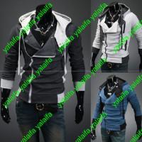 Compra Capas superiores del traje-Creed 3 de Desmond de los asesinos calientes Nuevo Hoodie de Cosplay de la chaqueta de la capa de los Hoodies, estilo del credo de los asesinos Chaqueta con capucha del paño grueso y suave, WEIYI001-3