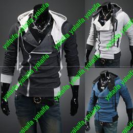Capas superiores del traje en Línea-Creed 3 de Desmond de los asesinos calientes Nuevo Hoodie de Cosplay de la chaqueta de la capa de los Hoodies, estilo del credo de los asesinos Chaqueta con capucha del paño grueso y suave, WEIYI001-3