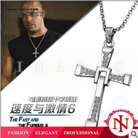 Wholesale FAST and FURIOUS Dominic Toretto s Cross Pendant Necklace k gold mens Cross Necklace Chain Pendant Crucifix