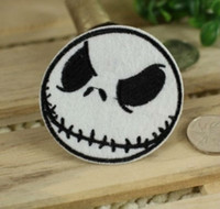achat en gros de patches de fer bon marché-Expédition gratuite Cheap The Nightmare Before Christmas Jack Iron On Patch horreur applique gros dropship 6cm