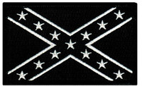 Wholesale CONFEDERATE FLAG EMBROIDERED PATCH REBEL DIXIE BLACK UNIFORM MILITARY BADGE