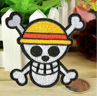 animated pirate - ONE PIECE Skull Pirate Patch animate Embroidered Iron On Patch Applique Badge dropship