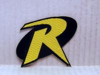 batman patch applique - ROBIN quot R quot Uniform Logo BATMAN Animated Series quot Costume Embroidered Emblem punk rockabilly applique sew on iron on patch