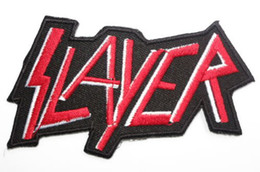 Wholesale SLAYER Music Band Iron On Sew On Patch Tshirt TRANSFER MOTIF APPLIQUE Rock Punk Badge