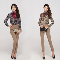 Wholesale European and American brand new winter plaid shirt shirt trade of the original single women joined a generation of fat free