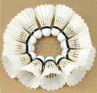 Wholesale New Training Practice Feather Shuttlecock Birdies Badminton Ball Game Sport White