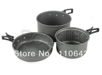 Wholesale New High Quality Outdoor Hiking Camping Tableware Cookware Backpacking Cooking Picnic Bowl Pot Pan Set DS300