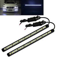 Turn Signals Honda Light Sourcing New 1Pair 12V Car DIY 21 LED DRL Driving Daytime Running Light Bar SMD5630 Head Lamp Super White TK0336
