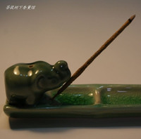 Cheap Ceramic hong plate bamboo standard incense holder incense burner handmade lucky hong board