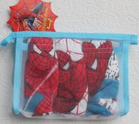 Wholesale Fashion Boys Pure Cotton Film Leading Actor Pattern Underwear Children Cartoon Spider Man Spider Briefs Kids Cartoon Boxers D1213