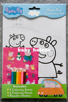 Wholesale Toys Gifts peppa pig learning education Toys Drawing Coloring Books