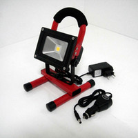 Wholesale New Arrival DHL FEDEX UPS shipping W rechargeable led flood light protable flood light IP65 Car Charger emergency floodlight