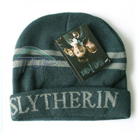 Wholesale Harry Potter Gryffindor Slytherin Thicken Wool Knit Hat Cap Set Warm Winter P20