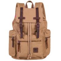 Wholesale S5Q Vintage Backpack Rucksack School Bag Satchel Hiking Bag Traveling Backpack AAABYB