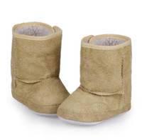 Wholesale Boy Girl Infant Toddler Winter Warm Shoes Children Snow Beige color Boots M DJF2