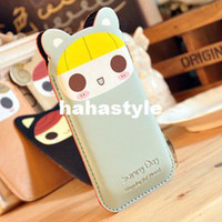 Wholesale Korean PU leather can Ailuo Li Chao Meng iphone iphone Bags Mobile Phone Protection CaseHA101