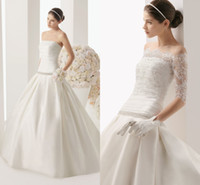 Ball Gown Reference Images Strapless Strapless 2014 Wedding Gown Satin Beaded Sexy Bridal Dress With Detachable Lace Jacket Ball Gown