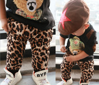 Wholesale Pure Cotton High Quality Baby Pants Thikcen Leyo Warm Winter Toddler Boys Girls Leopard Harem Pants Kids Casual Pants QZ281
