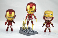 Wholesale christmas gift NHot set building blocks sets Super Heroes the avengers Iron Man PVC Action Figures eductional children Collection Model