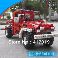 Building Plastic Blocks christmas gift NFree Shipping DECOOL 3327 LARGE 680Pcs Exploiture TOW truck Fire truck Plastic building blocks sets educational children toy