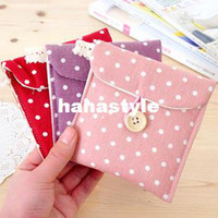 Coffee Maker Hair color mix Cotton Fresh wave of Korean admission package sanitary napkins point cotton pouch bag out essentialHA101