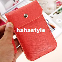 Wholesale Korean version of the candy colored leather Mobile phone protective sleeve bag purseHA101
