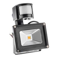 Wholesale LED Outdoor Floodlight PIR IP66 Motion Sensor RGB LED Waterproof Flood Light W W W W Lm Warm Cool White V Degree