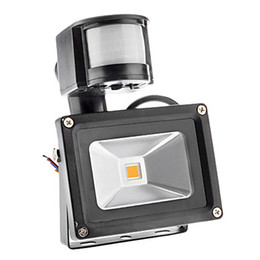 Wholesale LED Outdoor Floodlight PIR IP66 Motion Sensor RGB LED Waterproof Flood Light W W W W Lm Warm Cool White V Degree