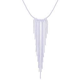 Wholesale Silver Plated Tassel Pendante Necklace statement necklace long necklace sterling silver christmas gifts chain necklace fashion jewelry