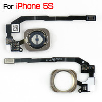 Wholesale for iPhone S iPhone5S Home Button Navigator with Flex Cable Replacement Parts by China Post Retail amp