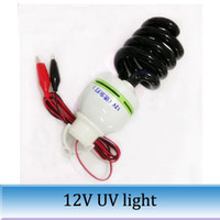 Wholesale 2PCS w Black light lamp UV lamp ultraviolet germicidal lamp V line screw UV light