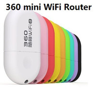 Wireless Soho VPN 100pcs 360 brand Mini Portable Wifi Router USB 2.0 Built-in antenna ease to use for Laptop & Mobile Phone