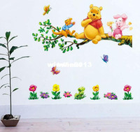 Wholesale Cartoon Cute Animal Wall Sticker home decoration vinyl furniture kids large posters wall paper