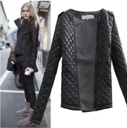 Wholesale 2014 new Europe and America women split joint woollen cloth Jacket coat quilted jacket S M L
