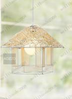 Modern rattan - Natural rattan lamp creative lamp chandelier lamp modern minimalist restaurant kitchen lighting MYY7688