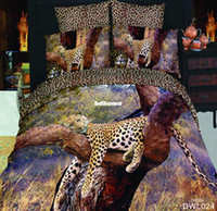 Cheap Wholesale - luxury animal bedding set 3d 100% cotton bedclothes 4pcs bed linen KING queen bedcover bed sheet duvet cover set Free fast ship