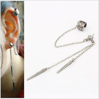Stud Women's Alloy ES248 Free Shipping 12pcs\lot New Design Wholesale Fashion Ear Cuff Earring clip Jewelry Accessories Gift