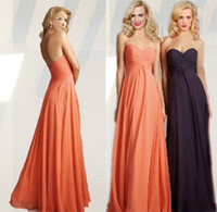 Wholesale 2014 Hot Sales Bridesmaid Dresses Criss Cross Sweetheart Backless A Line Floor Length Chiffon Formal Gowns