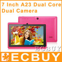 Wholesale 7 Inch q88 tablet Dual Core Allwinner A23 Q8H Android Dual Camera inch Capacitive A13 tablets pc G Cpu M GB Kids Tablets