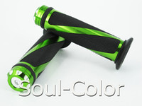 motorcycle grips - High Quality Motorcycle Grips Aluminum amp Rubber CNC Handle Bar Hand Grips Green MM grips