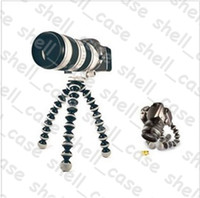 Wholesale Christmas Octopus Camera Tripod Size L Mini Stand Flexible Gorillapod SLR ZOOM Camera Tripod for Digital Camera amp DV With Retail Package