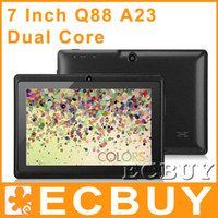 Wholesale Cheapest tablet pc A23 Q88 inch Dual Core WiFi Android Tablet PC MID laptop Black White Red Pink Blue Yellow