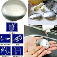 Wholesale Stainless Steel Soap Oval Shape Deodorize Smell From Hands Kitchen Bar Odor Smell Soap L455